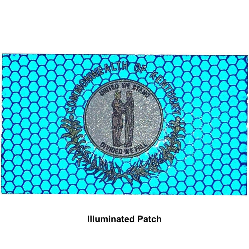 Tactical Gear Junkie Patches Reflective Kentucky State Flag - 2x3.5 Patch