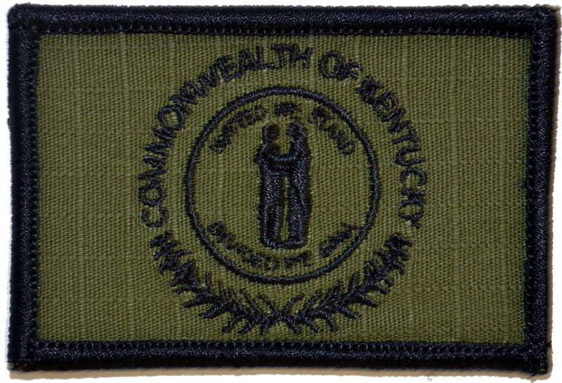 Tactical Gear Junkie Patches Olive Drab Kentucky Commonwealth State Flag - 2x3 Patch