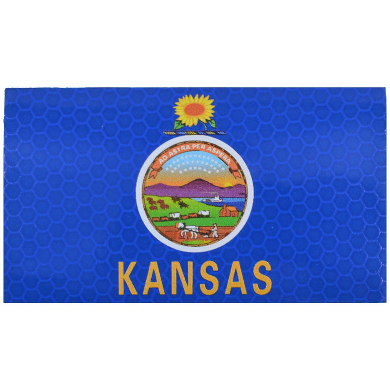 Tactical Gear Junkie Patches Reflective Kansas State Flag - 2x3.5 Patch