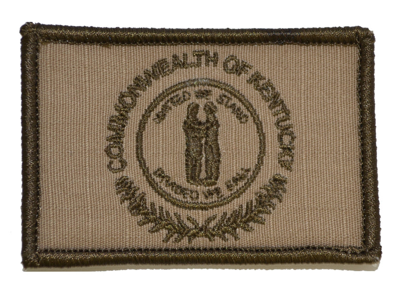 Tactical Gear Junkie Patches Coyote Brown Kentucky Commonwealth State Flag - 2x3 Patch