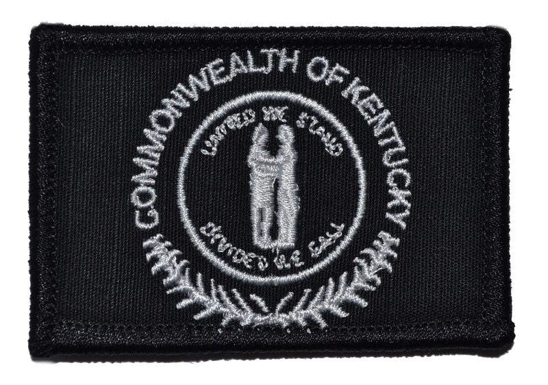 Tactical Gear Junkie Patches Black Kentucky Commonwealth State Flag - 2x3 Patch