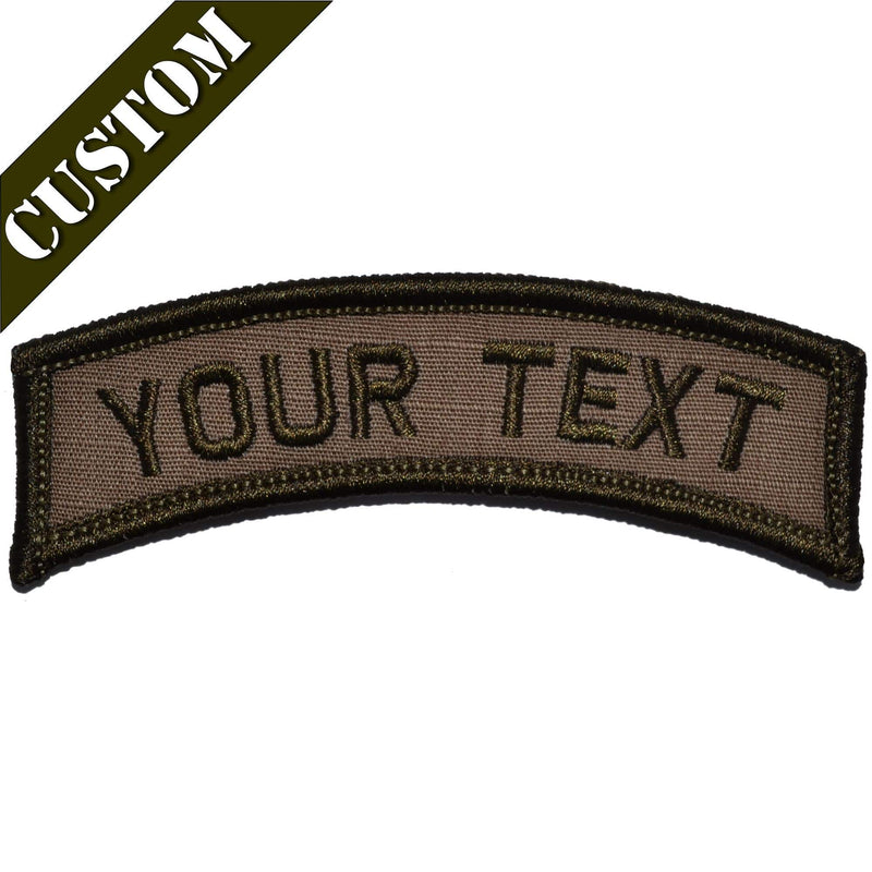 Tactical Gear Junkie Patches Custom Text Patch - LARGE Tab