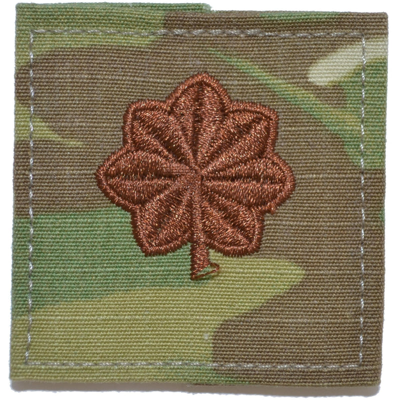 Tactical Gear Junkie Rank MAJ Air Force Rank w/ Hook Fastener Backing - 3-Color OCP
