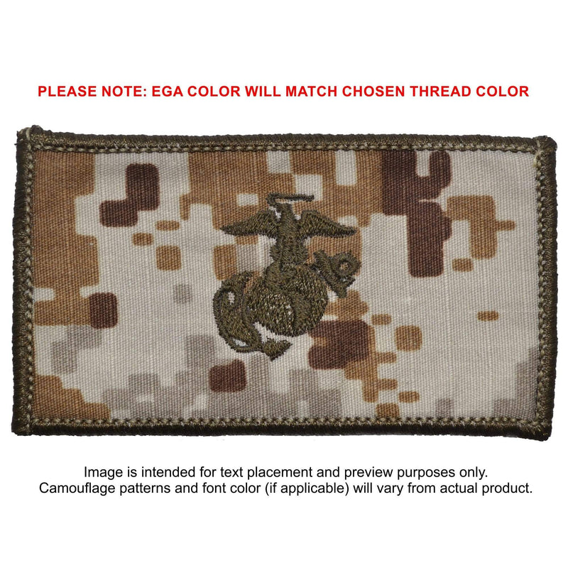 Tactical Gear Junkie Patches MARPAT Desert USMC Plate Carrier Flak Patch - Eagle Globe and Anchor Graphic (Filled Globe)