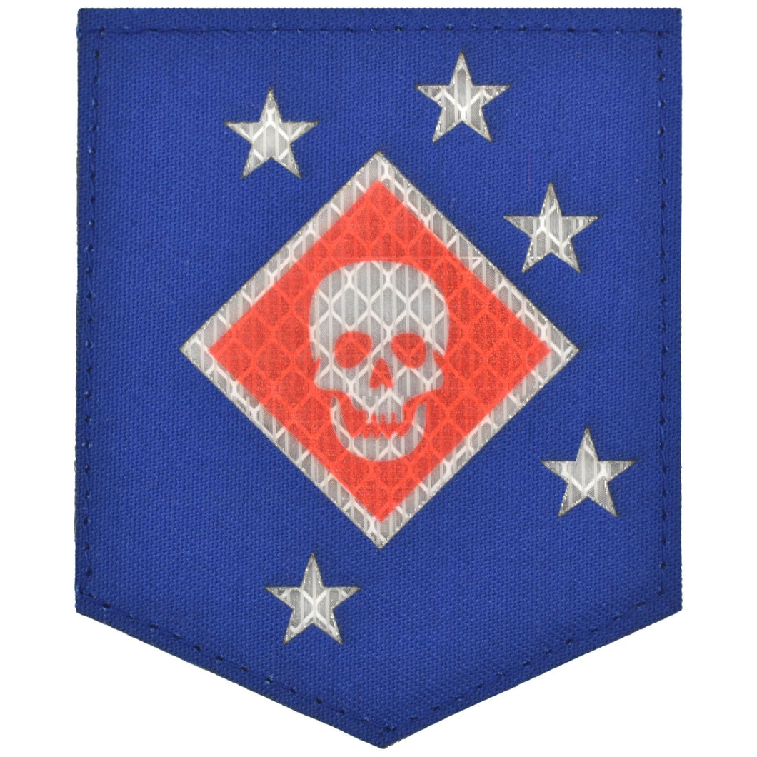 Laser Cut Reflective Marine Raider Battalion Thick Jaw MARSOC - 3x3.5 Shield Patch