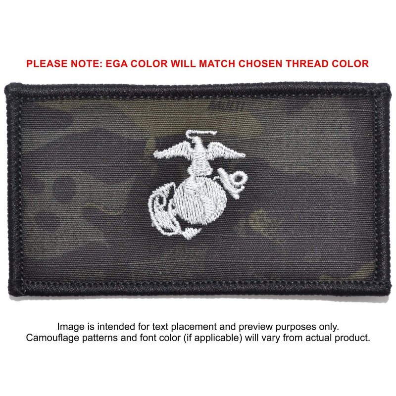 Tactical Gear Junkie Patches MultiCam BLACK USMC Plate Carrier Flak Patch - Eagle Globe and Anchor Graphic (Filled Globe)