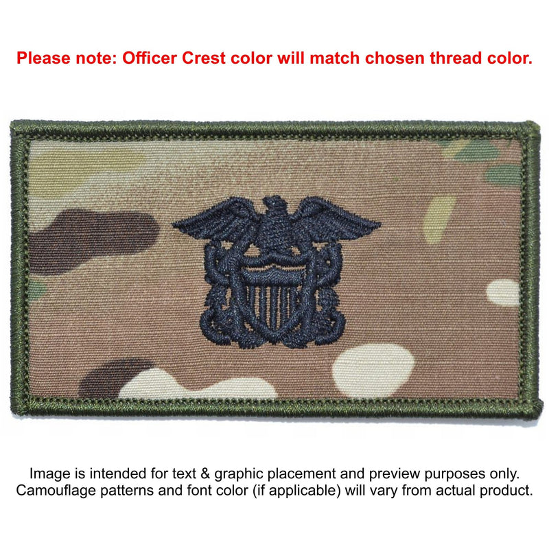 Tactical Gear Junkie Patches MultiCam Custom US Navy Officer Combat Chest Plate Carrier Patch