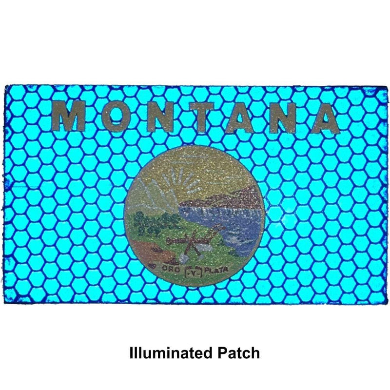 Reflective Montana State Flag - 2x3.5 Patch