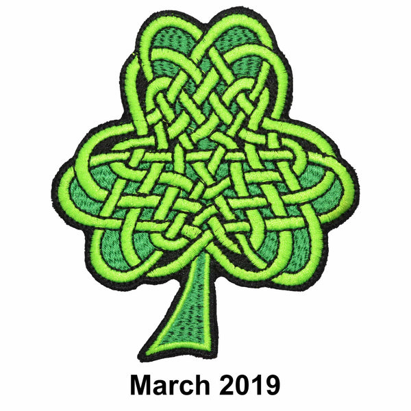 The Tactical Gear Junkie Patch of the Month - March - Celtic Knot Shamrock