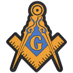 Masonic Square and Compasses - 2.5x3 PVC Patch