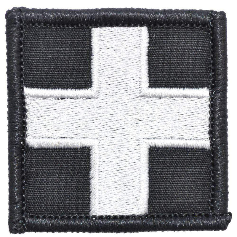 Tactical Gear Junkie Patches Black Medic Cross - 2x2 Patch