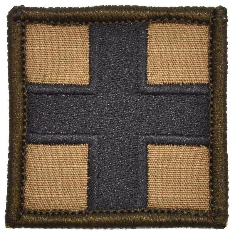 Tactical Gear Junkie Patches Coyote Brown Medic Cross - 2x2 Patch