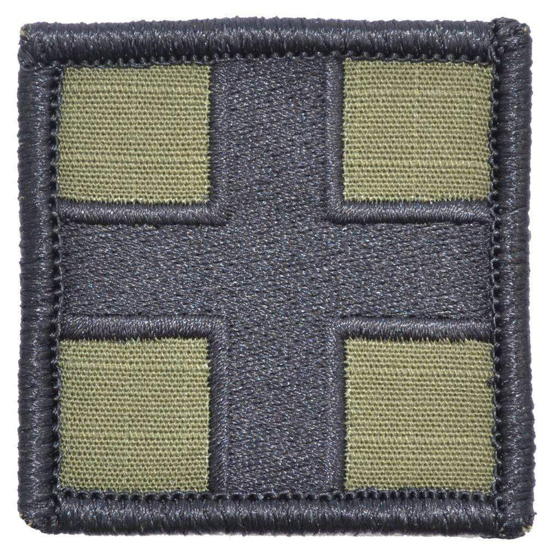 Tactical Gear Junkie Patches Olive Drab Medic Cross - 2x2 Patch