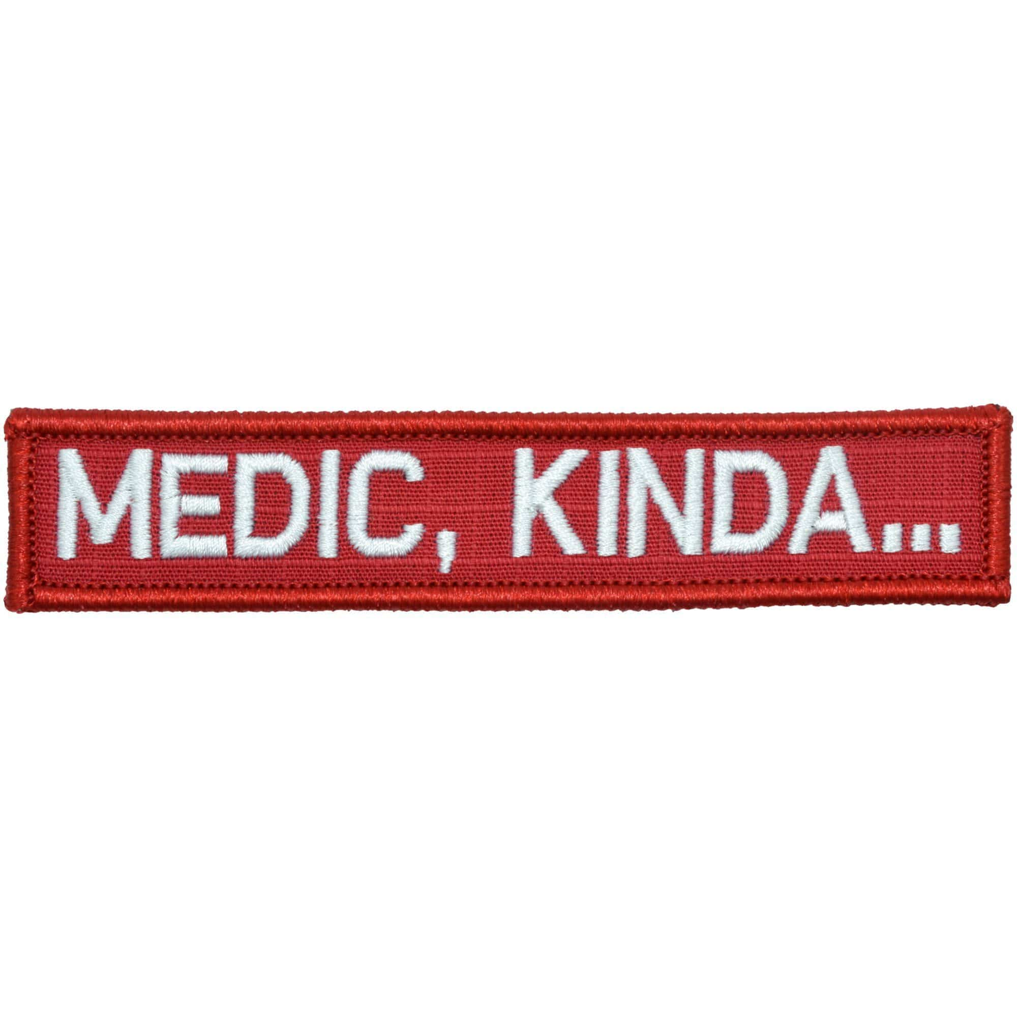 Tactical Gear Junkie Patches Red w/ White Medic, Kinda... - 1x5 Patch