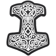 Mjölnir Thor's Hammer Norse Viking - 2.5x3 PVC Patch - Multiple Colors