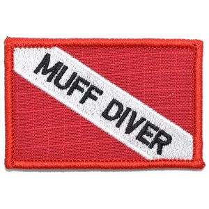 Muff Diver - Diver Down Scuba Flag - 2x3 Patch