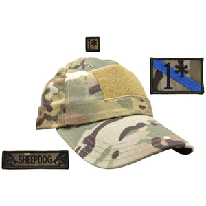 Gen II Hat with Patch Set: One Asterisk (Ass to Risk) 2x3, Sheepdog 1x3.75, 1* 1x1