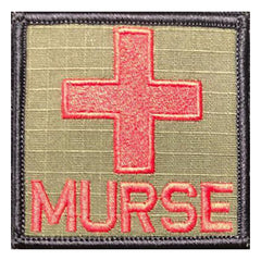 Murse Medic Cross - 2x2 Patch