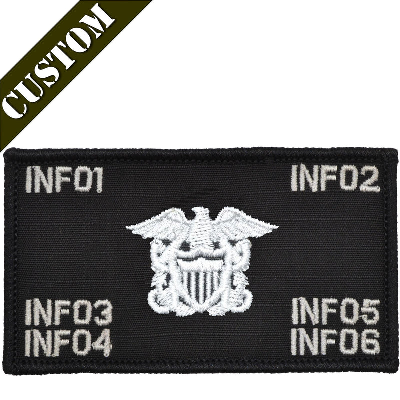 Tactical Gear Junkie Patches Custom US Navy Officer Combat Chest Plate Carrier Patch