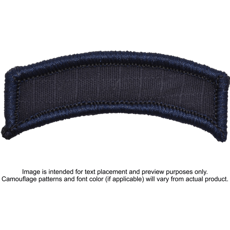 Tactical Gear Junkie Patches Navy Blue Custom Text Patch - LARGE Tab