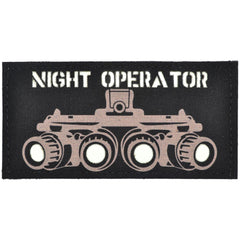 Night Operator Laser Cut/Printed Glow-in-Dark - 2x4 CORDURA® Patch