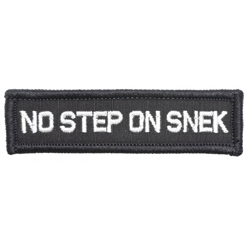 Tactical Gear Junkie Patches Black No Step On Snek - 1x3.75 Patch