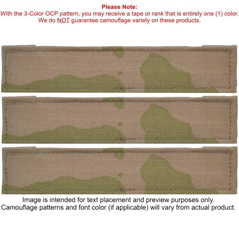Tactical Gear Junkie Name Tapes 5 Piece Custom Army Name Tape & Rank Set OCP Flag w/ Hook Fastener Backing - 3-Color OCP
