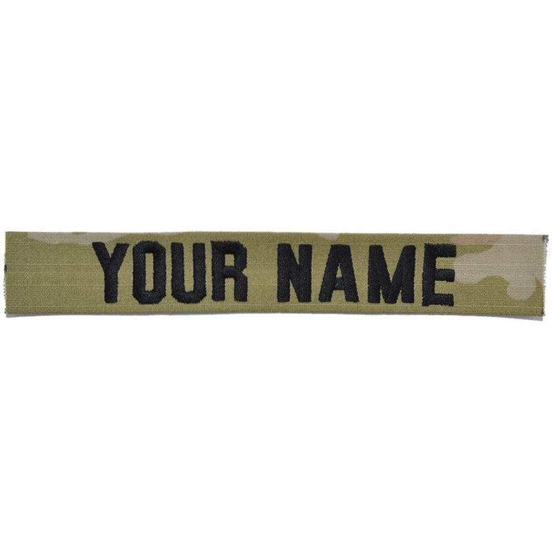 Tactical Gear Junkie Name Tapes Black Single Custom Army Name Tape - SEW ON - 3-Color OCP