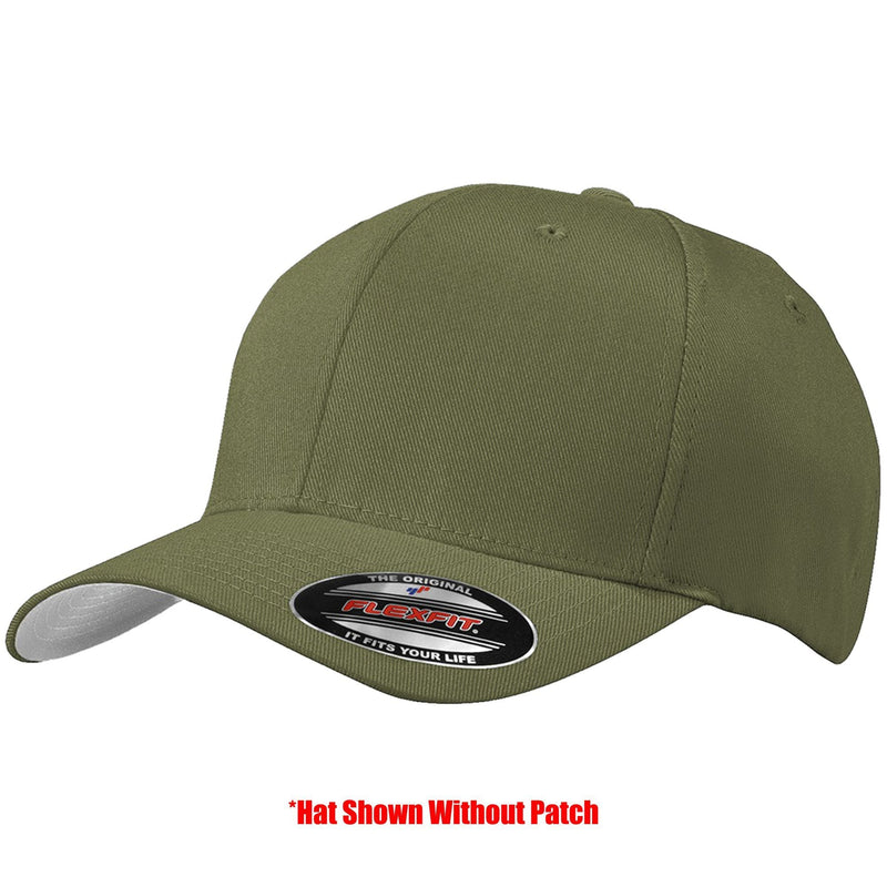 Tactical Gear Junkie Apparel Olive Drab / S/M FlexFit Hat with Templar Cross Shield PVC Patch - Multiple Colors