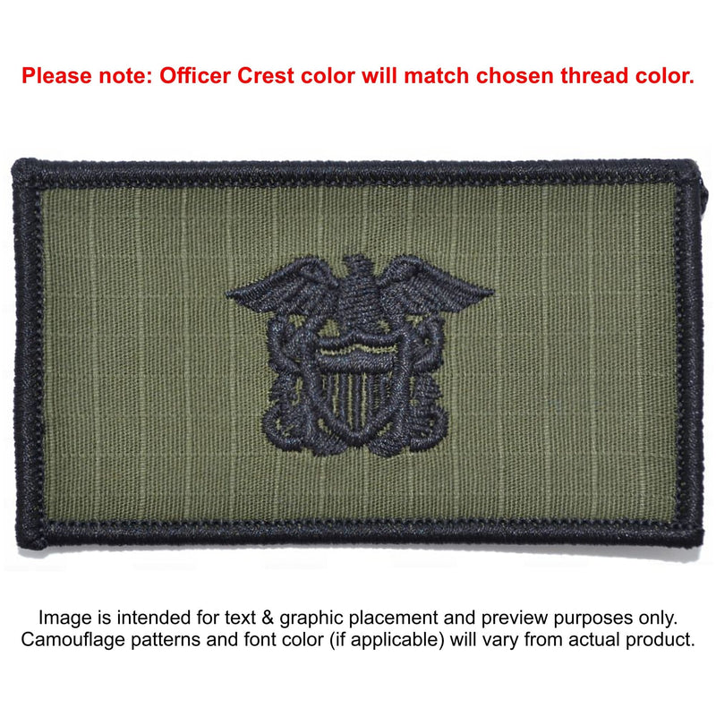 Tactical Gear Junkie Patches Olive Drab Custom US Navy Officer Combat Chest Plate Carrier Patch
