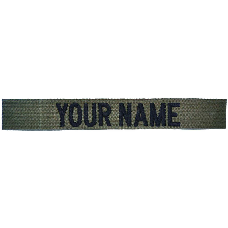 Tactical Gear Junkie Name Tapes Nylon/Cotton Webbing Custom Name Tape - Olive Drab