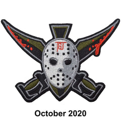 The Tactical Gear Junkie Patch of the Month - October - Hockey Mask Spartan