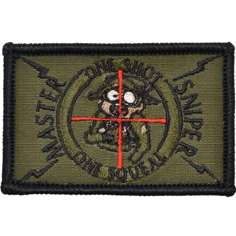 Tactical Gear Junkie Patches Olive Drab Master Sniper One Shot, One Sqeal - 2x3 inch Patch