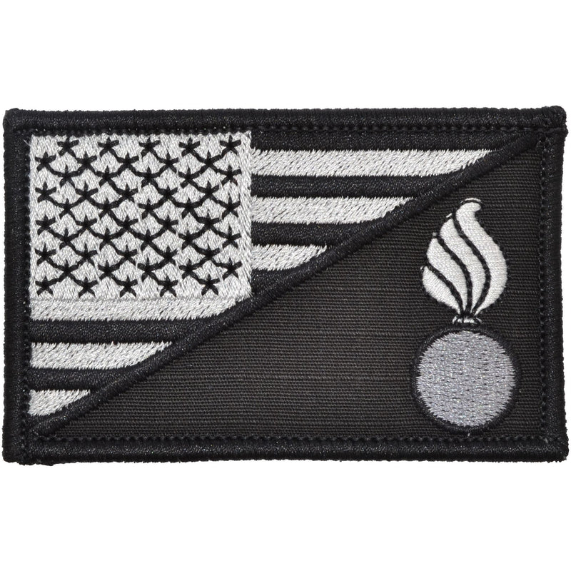 Tactical Gear Junkie Patches Black Army Ordnance Corps USA Flag - 2.25x3.5 Patch