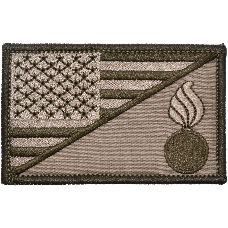 Tactical Gear Junkie Patches Coyote Brown Army Ordnance Corps USA Flag - 2.25x3.5 Patch