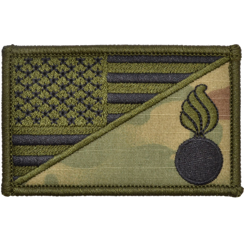 Tactical Gear Junkie Patches MultiCam Army Ordnance Corps USA Flag - 2.25x3.5 Patch