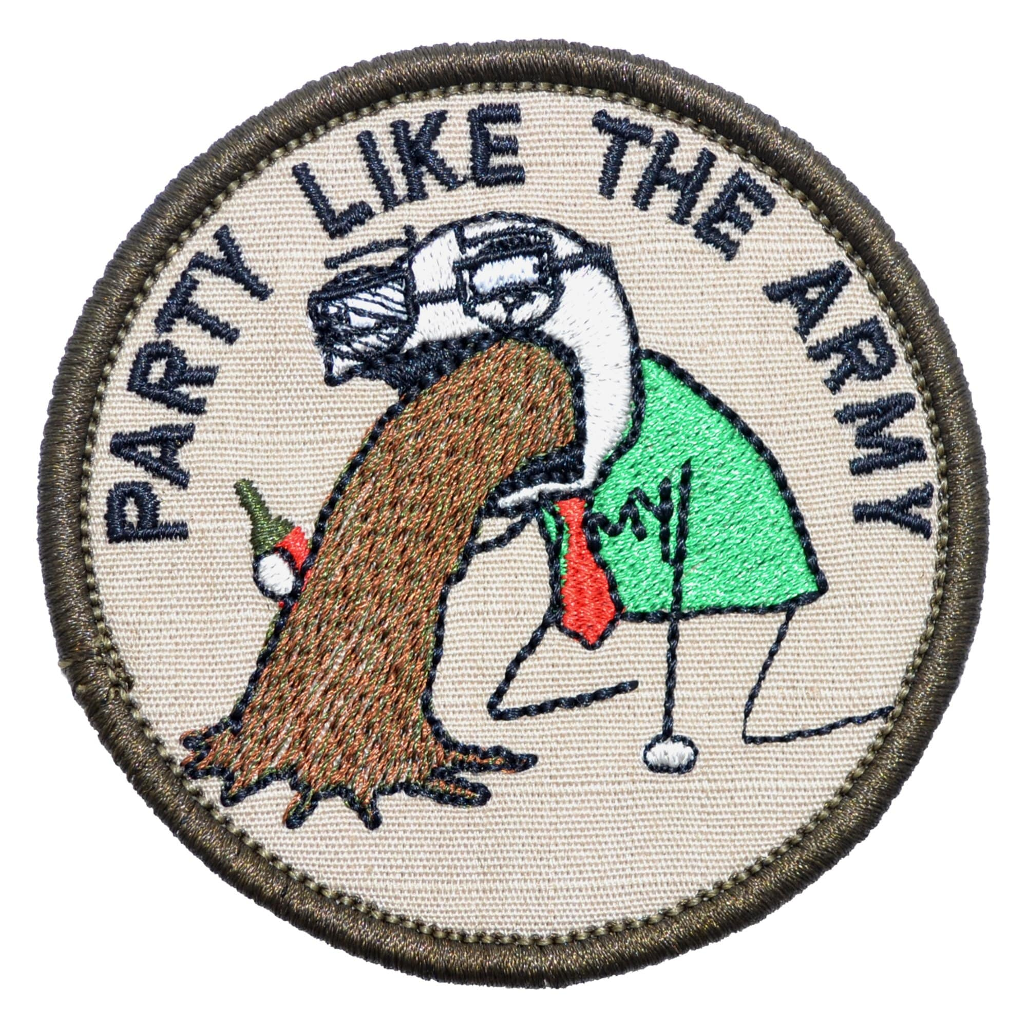 Tactical Gear Junkie Patches Sketch's World © Party Like The Army - 3 in Round Patch
