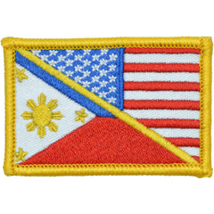 USA / Philippines Flag - 2x3 Patch