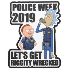 Rick and Morty Police Week 2019 - 4 inch PVC Patch
