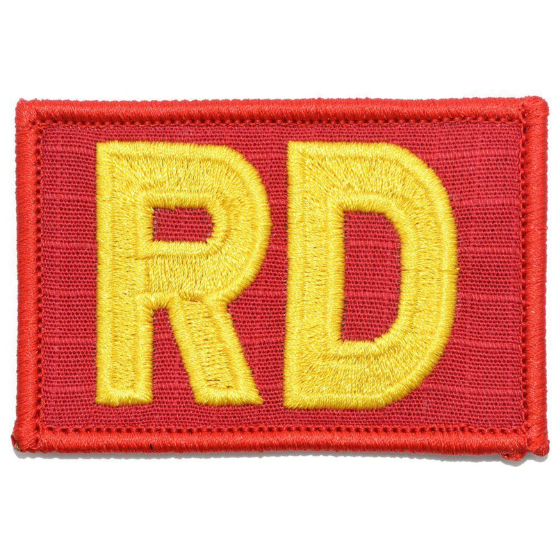 Tactical Gear Junkie Patches Red / Yellow RD - Range Director - 2x3 Patch