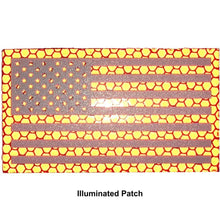 Reflective Printed Red/White USA Flag - 2x3.5 Patch