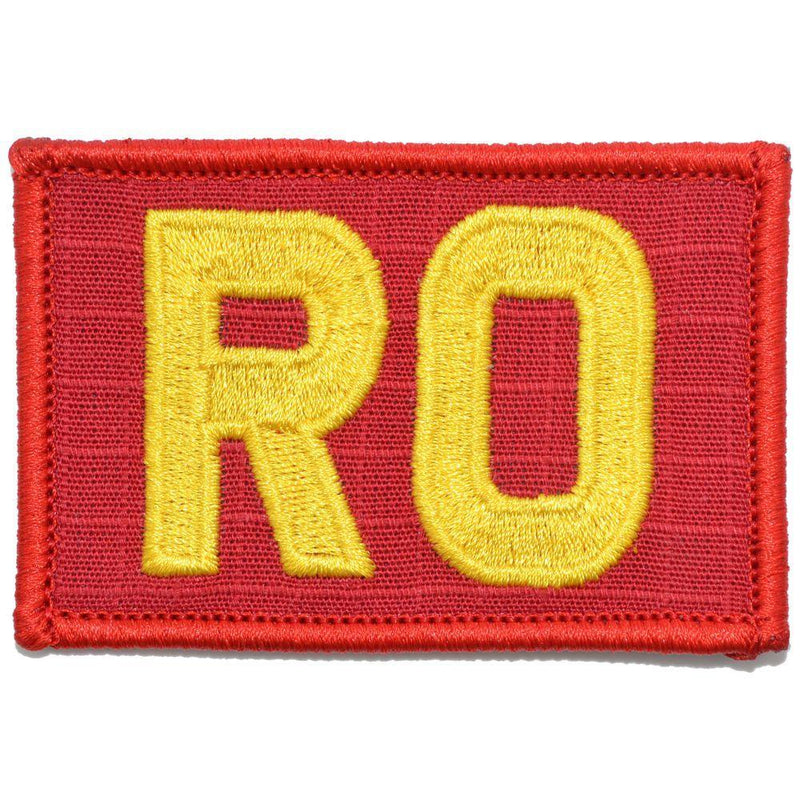 Tactical Gear Junkie Patches Red / Yellow RO - Range Officer - 2x3 Patch