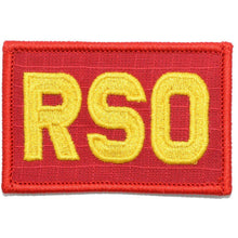 RSO - Range Safety Officer - 2x3 Patch