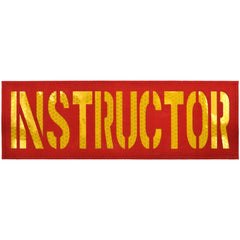 Instructor Laser Cut Reflective - 3x9 CORDURA® Patch