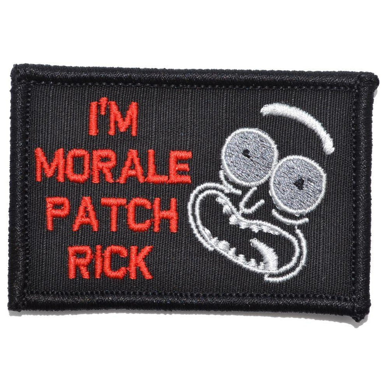 Tactical Gear Junkie Patches Black w/ Red I'm Morale Patch Rick - 2x3 Patch