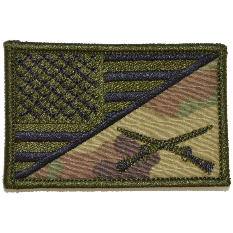 Tactical Gear Junkie Patches MultiCam Rifle Cross Infantry USA Flag - 2.25x3.5 Patch