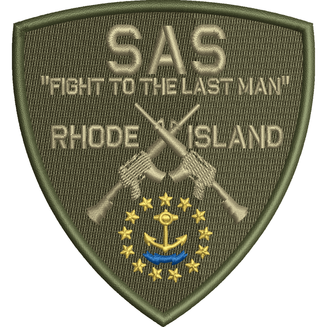 SAS Rhode Island Team - Shield Patch - Olive Drab