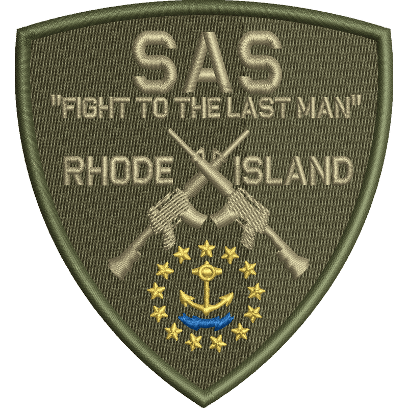 Tactical Gear Junkie Patches SAS Rhode Island Team - Shield Patch - Olive Drab
