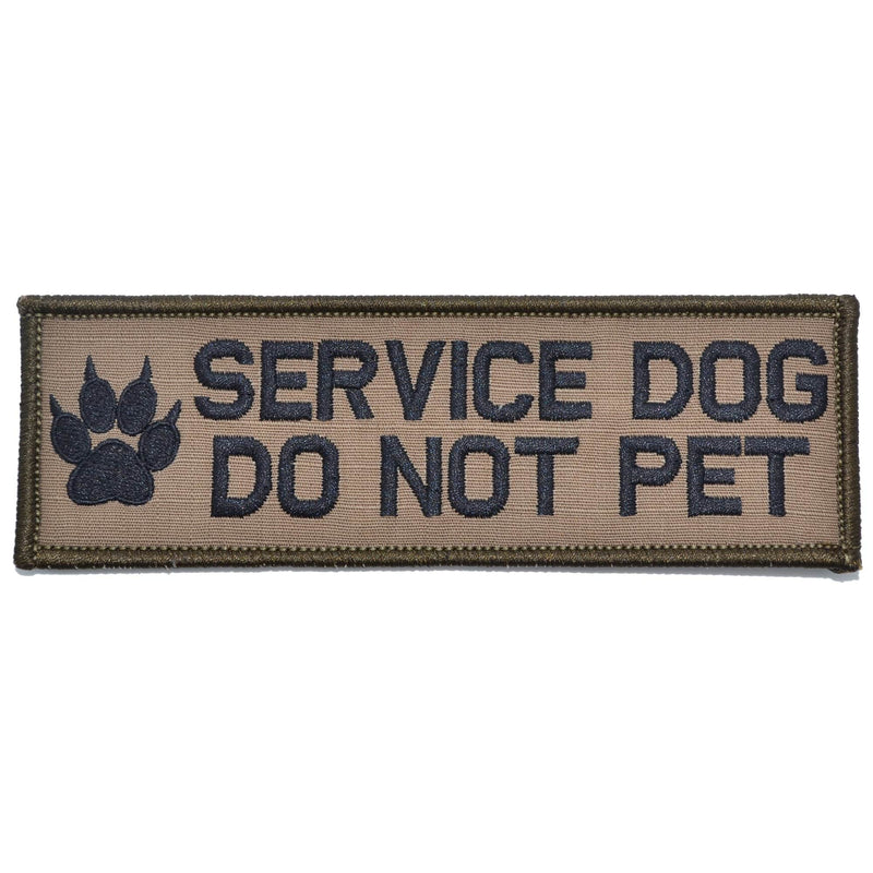 Tactical Gear Junkie Patches Coyote Brown w/ Black Service Dog, Do Not Pet - 2x6 Patch
