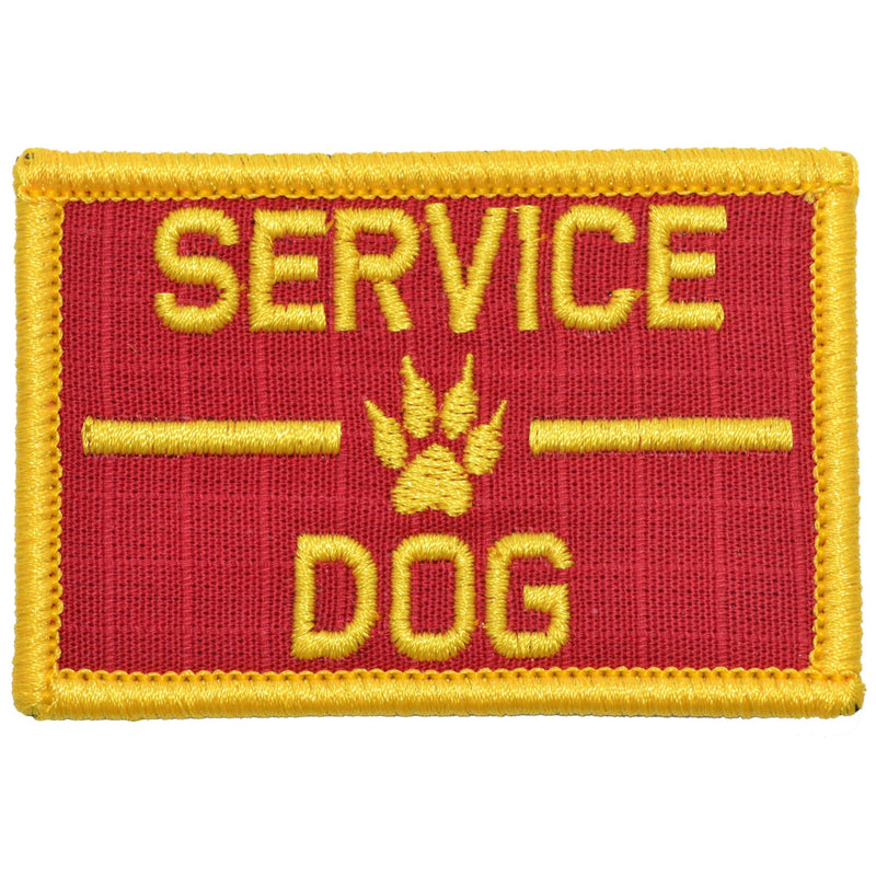 Tactical Gear Junkie Patches Red / Yellow Service Dog, K9 Dog Patch - 2x3 Patch